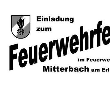 Feuerwehrfest in Mitterbach – Vorankündigung