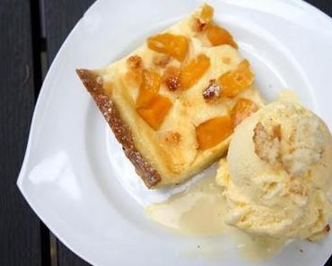 Pfirsich-Cheesecake vom Blech