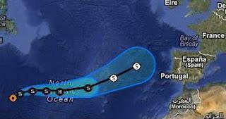 Tropischer Sturm GORDON zieht nach Europa