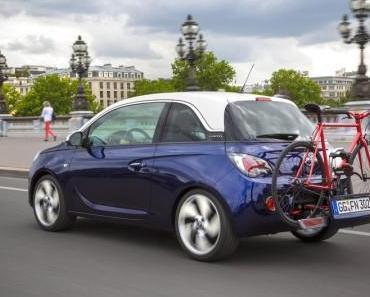Opel Adam mit FlexFix-Fahrradträgersystem