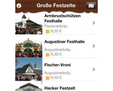 Münchner Oktoberfest 2012 – Wies'n 2012 auf dem iPhone, iPodtouch