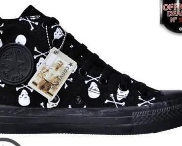 #Converse Chucks Hi 1Q092 Skull & Bones Totenkopf Print Limited Edition Schwarz