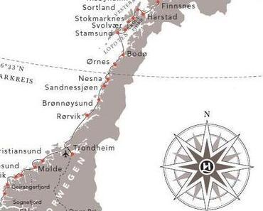 Huritigruten Schiffsreise Norwegen von Bergen nach Kirkenes im Mai 2012