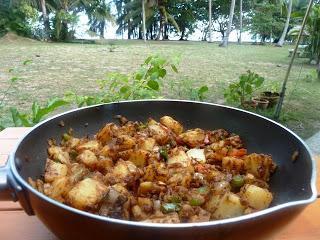 Indische Bengali Aloo und Thai Vegetarierfest / Indian Bengali Aloo and Thai Vegetarian Festival
