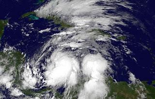 Tropischer Sturm SANDY entwickelt sich - Hurrikanwarnung Jamaika