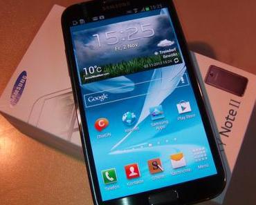 Samsung Galaxy Note 2: Ausgepackt und angeschaut (Video)