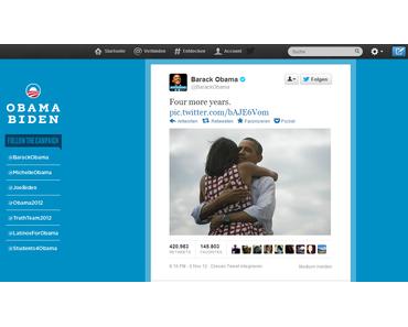 US-Präsident Barack Obama: erster Dank über Twitter