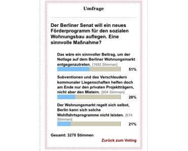 Berlin: Wohnungspolitik als Gewinnsicherung für Eigentümer