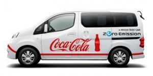 Coca-Cola testet den Nissan e-NV200