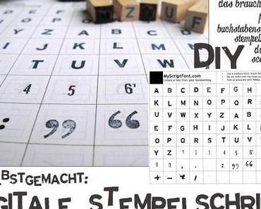 {DIY} Stempel-Schriftart selber machen!