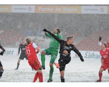 1:1 im verschneiten Cottbus