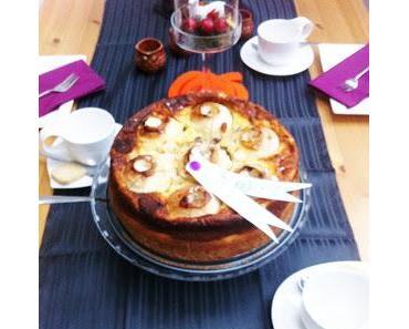 Winterliche Apfel- Vanille Torte