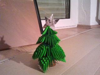 3D Origami - Weihnachtsbaum