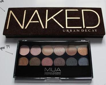 [Dupevergleich] Urban Decay Naked Palette 1 vs. MUA Underdressed