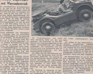 Vorstellung Porsche Jagdwagen, VW Karmann Ghia, Mercedes-Benz 190 SL