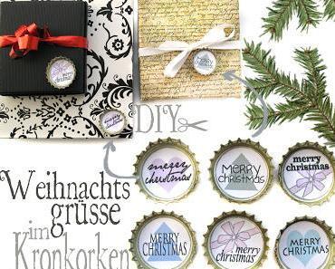 {DIY} Weihnachtsgrüße im Kronkorken