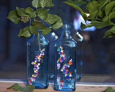 {DIY} Glitzernde Glasflaschen