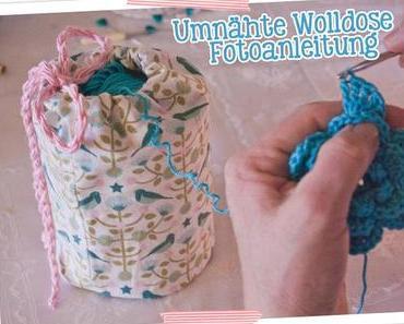 Fotoanleitung: Einen Wollknäuelhalter aus einer eingenähten Blechdose herstellen – Upcycling Tuesday