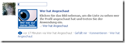 Facebook Scam – Wer hat angeschaut