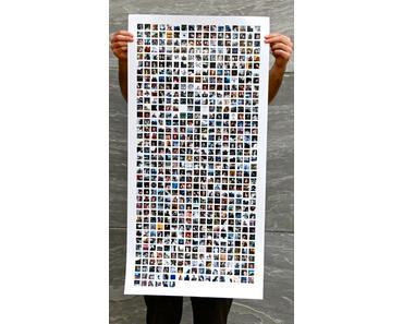 Facebook-Freunde als Poster für das Wohnzimmer