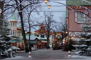 Der Weihnachtsmarkt öffnet in Liseberg, Göteborg