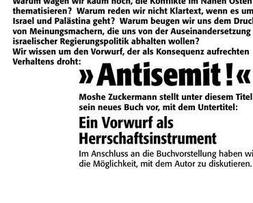 """Moshe Zuckermann stellt """"Antisemit"""" vor"""