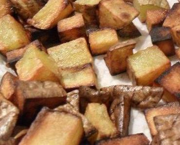knusprige Kartoffelcroutons