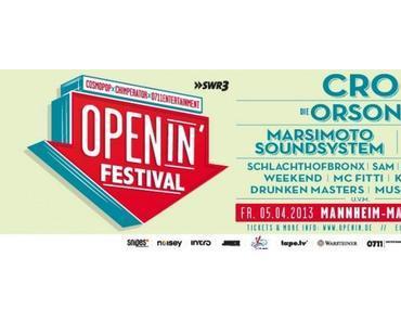 Openin Festival in Mannheim – Die Festivalsaison beginnt am 5. April