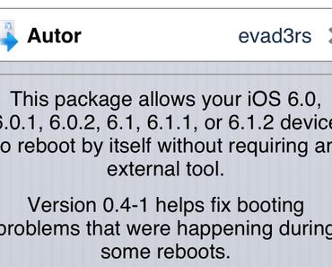 Evasi0n v1.5 und evasi0n 6.0-6.1.2 Untether beheben Boot-Probleme mit Jailbreak