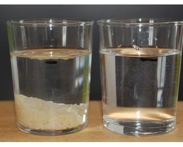 Steigt beim Lösen das Wasser?