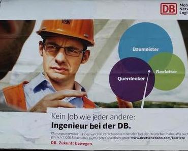 Die Deutsche Bahn sucht Mitarbeiter