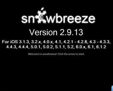 sn0wbreeze 2.9.13 iOS 6.1.2 Custom Firmware-Tool Bugfix-Update