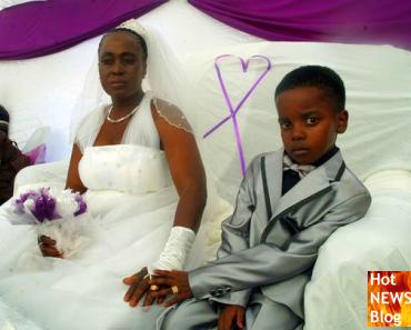 8-jähriger Knirps heiratet 61-jährige Frau