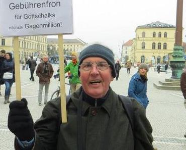 Im Kampf gegen die Kettenhunde der GEZ-Gebühren-Gier-Ganoven: Stadtrundgang durch München unter Polizeischutz!