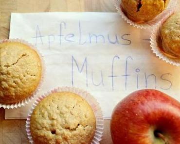 Gebacken: Apfelmus-Muffins