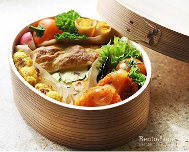 Bento #129: Gemüse-Blätterteig-Kuchen & Curry-Blumenkohl