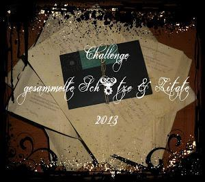 Challenge gesammelte Schätze und Zitate im März