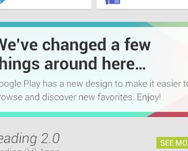 Google Play Store: Bild zeigt neues Design