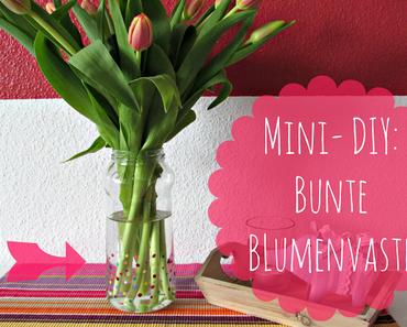 Mini-DIY-Idee: Bunte Blumenvase