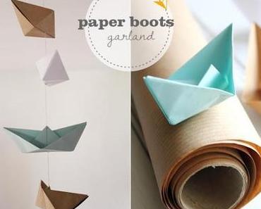 Mini-DIY: Paper boat garland