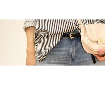 Outfit 4: Boyfriend Jeans & Stripe Blouse