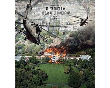 White House Down: Das weiße Haus auf 2 neuen Plakaten in Flammen