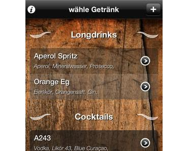 [App] Drinkmixer: Mischt eure eigenen Cocktails mit der iPhone-Kamera