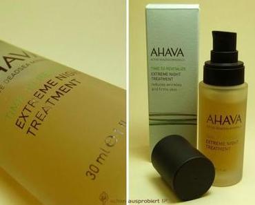 Danke an meine Leser für diesen tollen Tipp: AHAVA Extreme Night Treatment