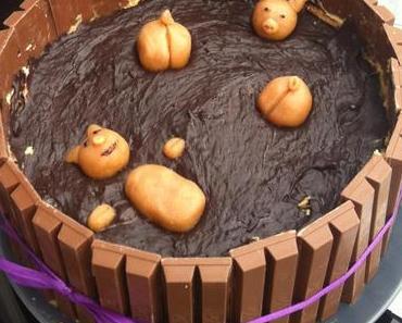 Schweine im Schlamm Kuchen