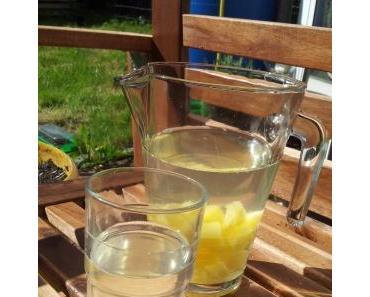 Variation Sommerbowle: Ananas-Holunder Erfrischungsgetränk