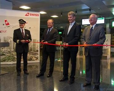 SWISS Erstflug Zürich – Singapur