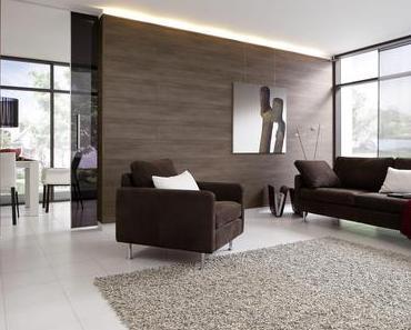Holz an Wänden und Decken