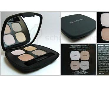 """Review: bareMinerals Ready Eyeshadow Quad """"The Comfort Zone"""""""