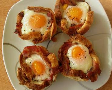 Toastmuffins mit Ei & Speck